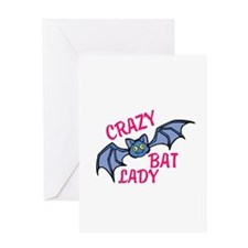 Crazy bat lady Greeting Cards