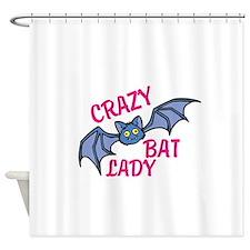 Crazy bat lady Shower Curtain