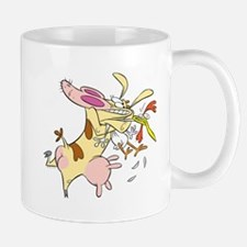 Cow Squeezin Chicken Mugs