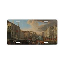 Regatta on the Grand Canal Aluminum License Plate