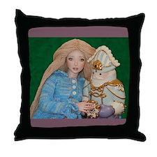 Clara and the Nutcracker Throw Pillow