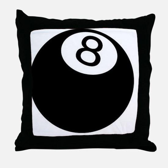 8 ball pool Throw Pillow
