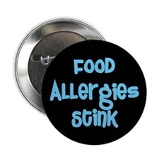 """Food Allergies Stink 2.25"""" Button (100 pack)"""