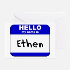 hello my name is ethen  Greeting Cards (Package of