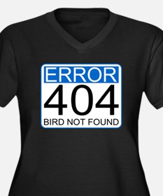 Error 404 Women's Plus Size V-Neck Dark T-Shirt