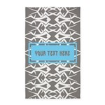 Custom Text Tribal Pattern 3'x5' Area Rug