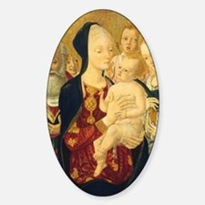 Madonna and Child Sticker (Oval)