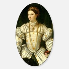 Portrait of a Lady in White Decal