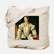 Portrait of a Lady in White Tote Bag
