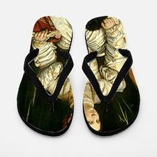 Portrait of a Lady in White Flip Flops