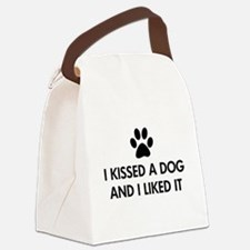 I kissed a dog and I liked it Canvas Lunch Bag