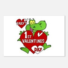 Crocodile 1st Valentines Day Postcards (Package of