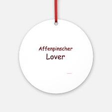 Lover Affenpinscher Ornament (Round)