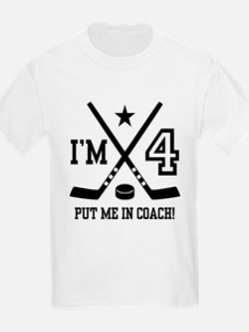 4 Year Old Hockey T-Shirt