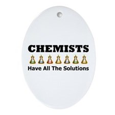 All the Solutions Oval Ornament