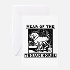 Year of the Trojan Horse Greeting Cards