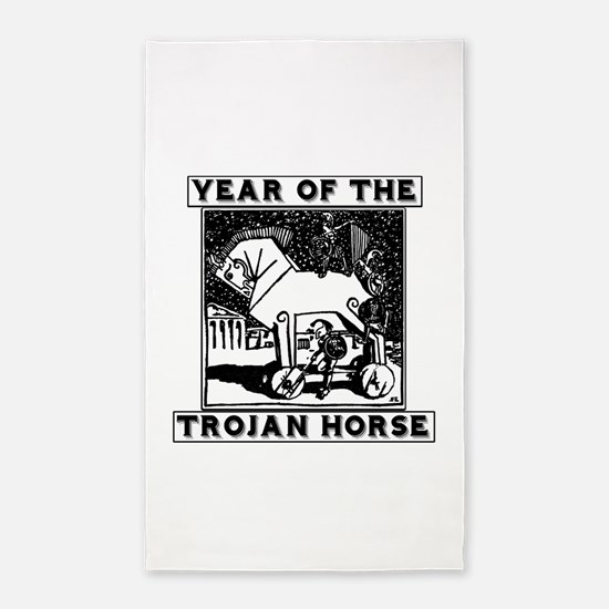 Year of the Trojan Horse 3'x5' Area Rug