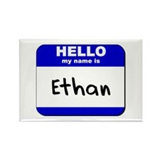 hello my name is ethan Rectangle Magnet