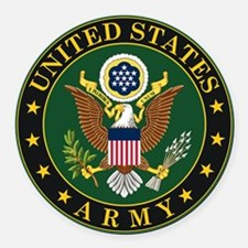 US ARMY Round Car Magnet