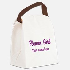Flower Girl By Name Canvas Lunch Bag