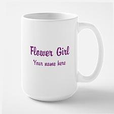 Flower Girl By Name Large Mug