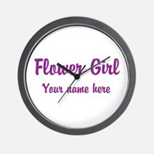 Flower Girl By Name Wall Clock