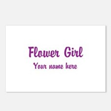 Flower Girl By Name Postcards (Package of 8)