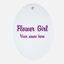 Flower Girl By Name Ornament (Oval)