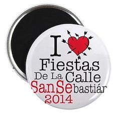 I LOVE FIESTAS DE LA CALLE SAN SEBASTIAN Magnet