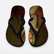 Old Woman  Flip Flops