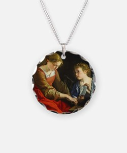 Saint Cecilia and an Angel Necklace