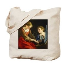 Saint Cecilia and an Angel Tote Bag