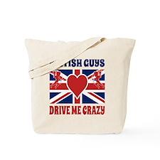 British Guys Drive Me Crazy Cupid British Tote Bag
