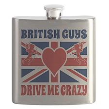 British Guys Drive Me Crazy Cupid British Fl Flask
