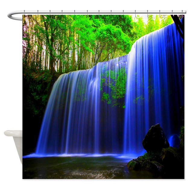 Paradise Waterfall Shower Curtain By Zazzlinghomedecor