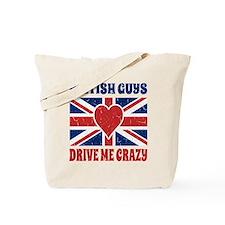 Vintage British Guys Drive Me Cupid Briti Tote Bag