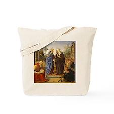 The Visitation with Saint Nicholas and Sa Tote Bag