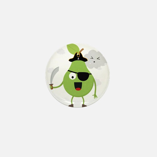 Pirate Pear with clouds Mini Button
