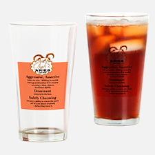Aries-Zodiac Sign Drinking Glass