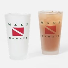 Maui Dive Flag Drinking Glass
