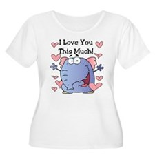 Elephant I Love You Valentine T-Shirt