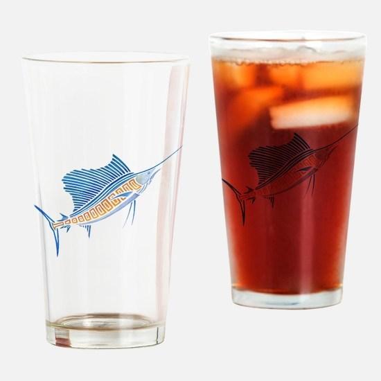 Tribal Sailfish Drinking Glass