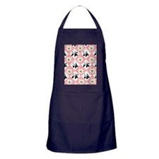 Pandas on Checker Board Apron (dark)