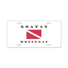 Roatan Dive Design Aluminum License Plate