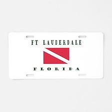 Ft Lauderdale Florida Dive Aluminum License Plate