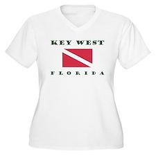 Key West Florida Dive Plus Size T-Shirt