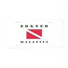 Borneo Malaysia Dive Aluminum License Plate