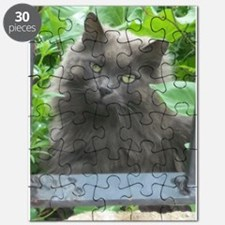 Long Haired Russian Blue Cat Puzzle