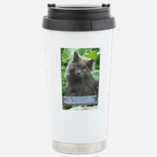 Long Haired Russian Blue Cat Travel Mug