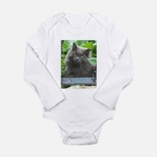 Long Haired Russian Blue Cat Body Suit